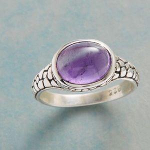Purple Pebble Amethyst Ring
